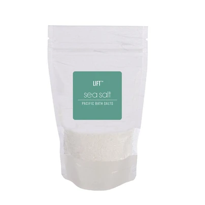 bag of sea salt scented bath salts