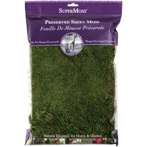 SuperMoss 2 oz bag Preserved Sheet Moss - Fresh Green Color