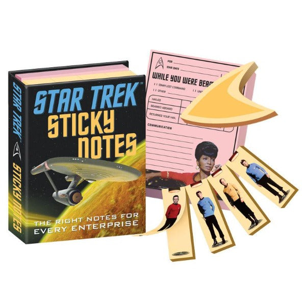 Star Trek Sticky Notes package with contents displayed