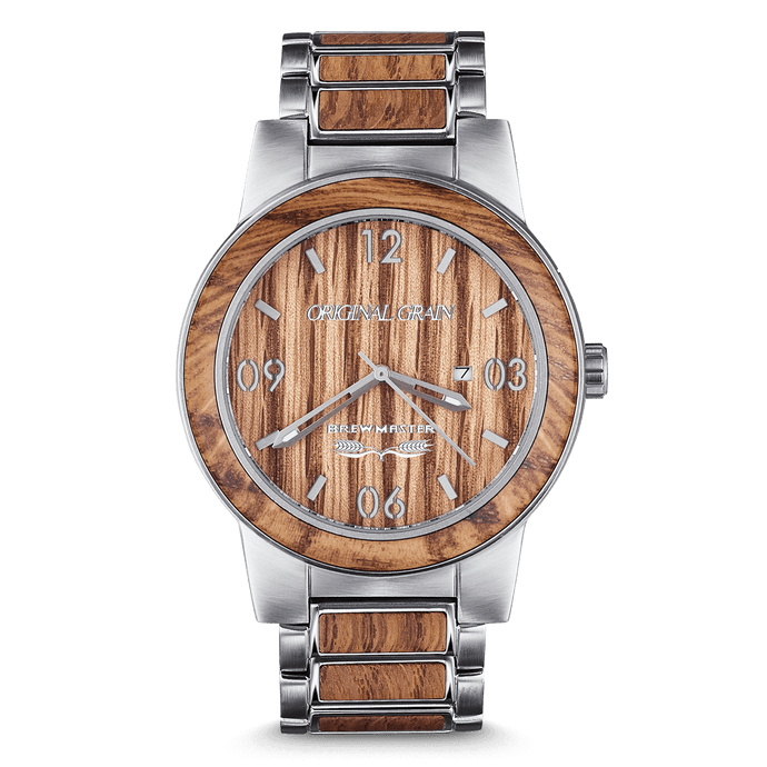 Brewmaster Beer Barrel Wood Watch