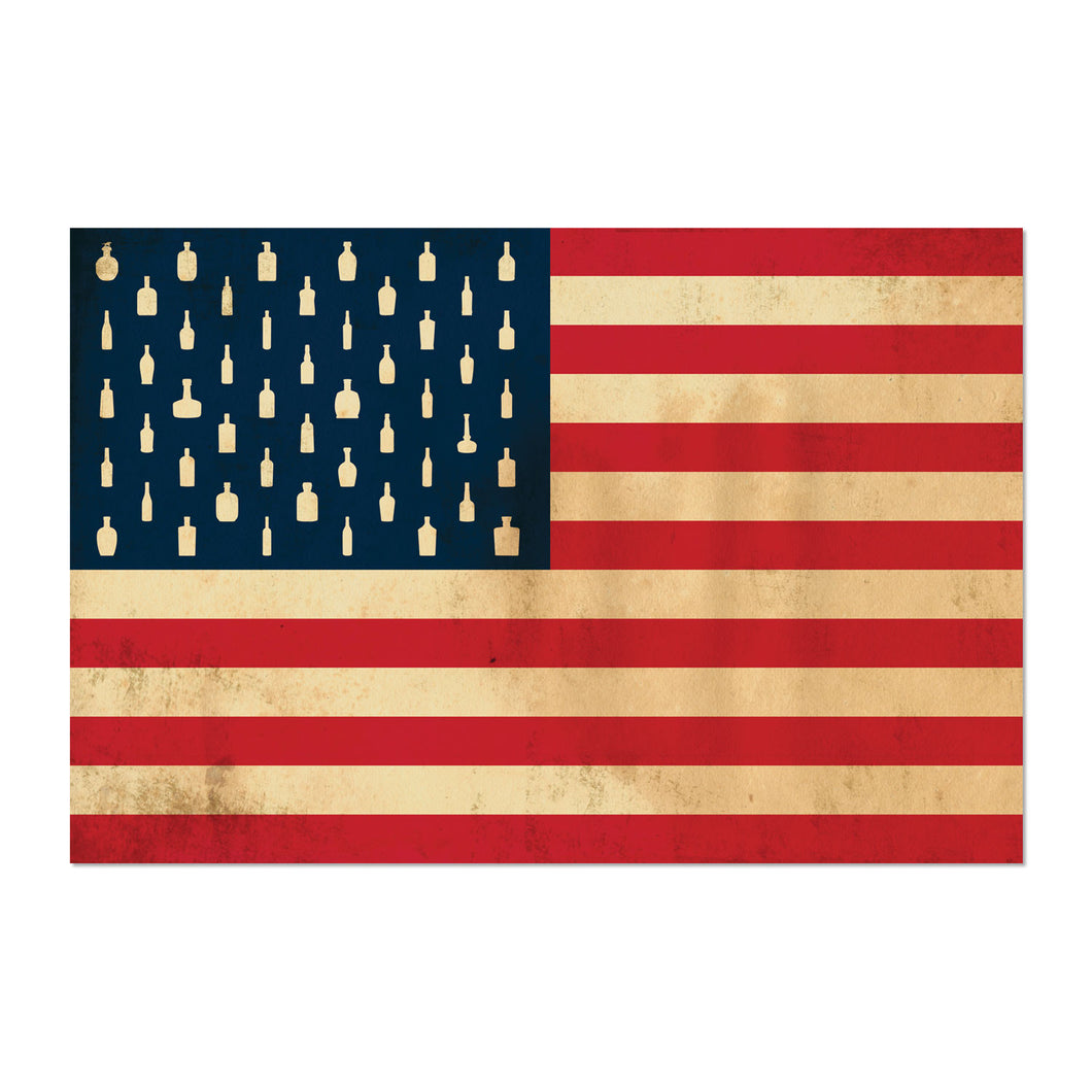 Bourbon Patriot Flag – 12x18