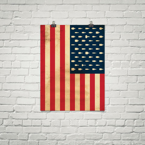 "Bourbon Patriot Flag</br>18x24"" Poster"