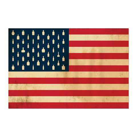 "Bourbon Patriot Flag</br>24x36"" Canvas Wrap"