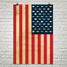 "Bourbon Patriot Flag – 24x36"" Poster"