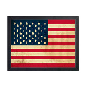 "Bourbon Patriot Flag – 8.5x11"" Framed Canvas"