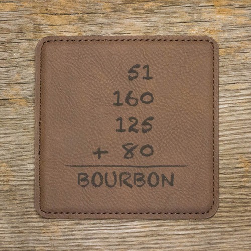 Bourbon Math Coaster Set