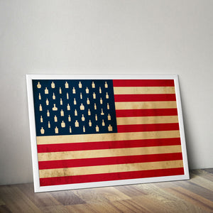 "Bourbon Patriot Flag – 18x24"" Poster"