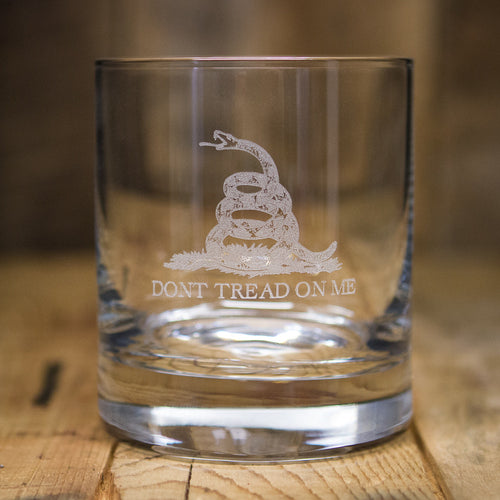 'Dont Tread On Me' Rocks Glass
