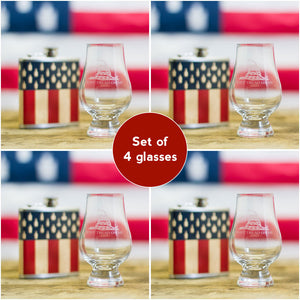 """Don't Tread On Me"" Glencairn Whisky Glass – Set of 4"