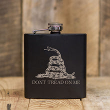 'Dont Tread On Me' Black Flask