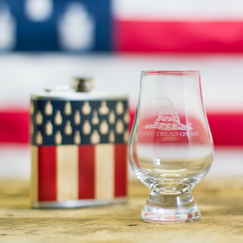 """Don't Tread On Me""</br>Glencairn Whisky Glass"