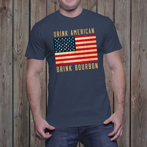 Drink American,</br>Drink Bourbon Patriot</br>Men's T-Shirt