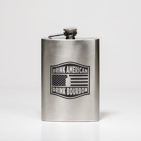 'Drink American' Flask