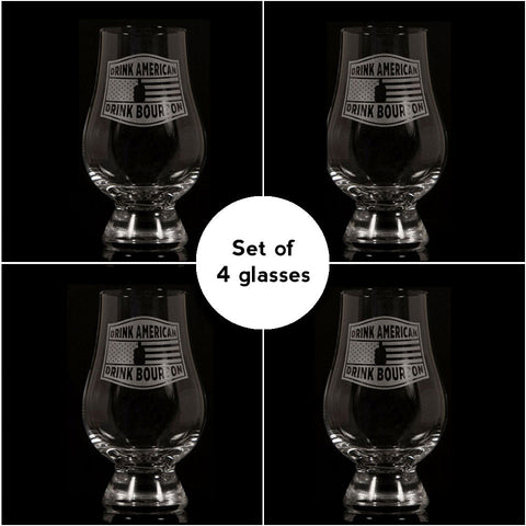 """Drink American""</br>Glencairn Whisky Glass</br>Set of 4"