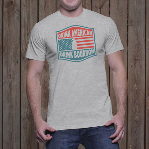 Drink American, Drink Bourbon</br>Men's T-Shirt