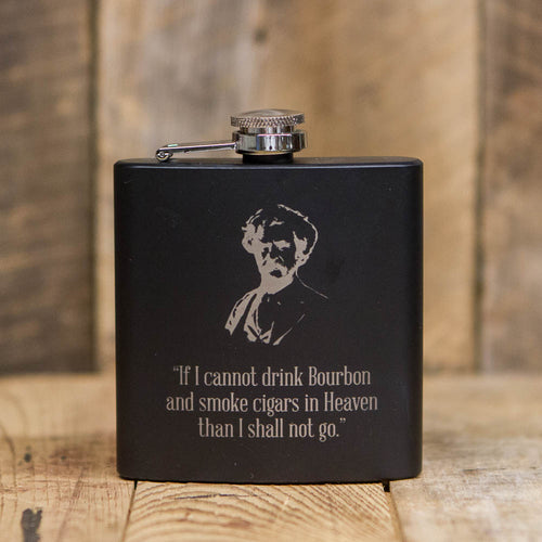 'If I Cannot Drink Bourbon' Black Flask