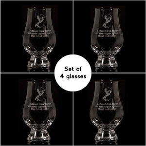 """If I Cannot Drink Bourbon"" Glencairn Whisky Glass – Set of 4"