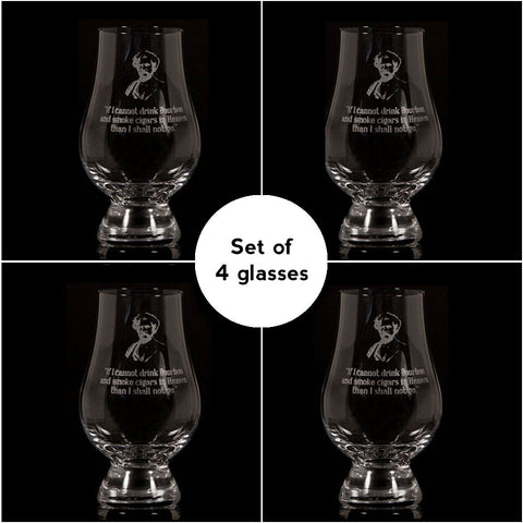 """If I Cannot Drink Bourbon""</br>Glencairn Whisky Glass</br>Set of 4"