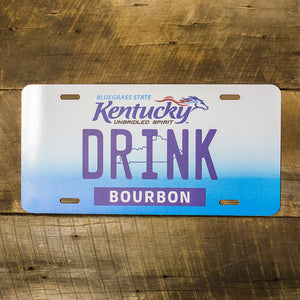 Drink Bourbon Kentucky License Plate