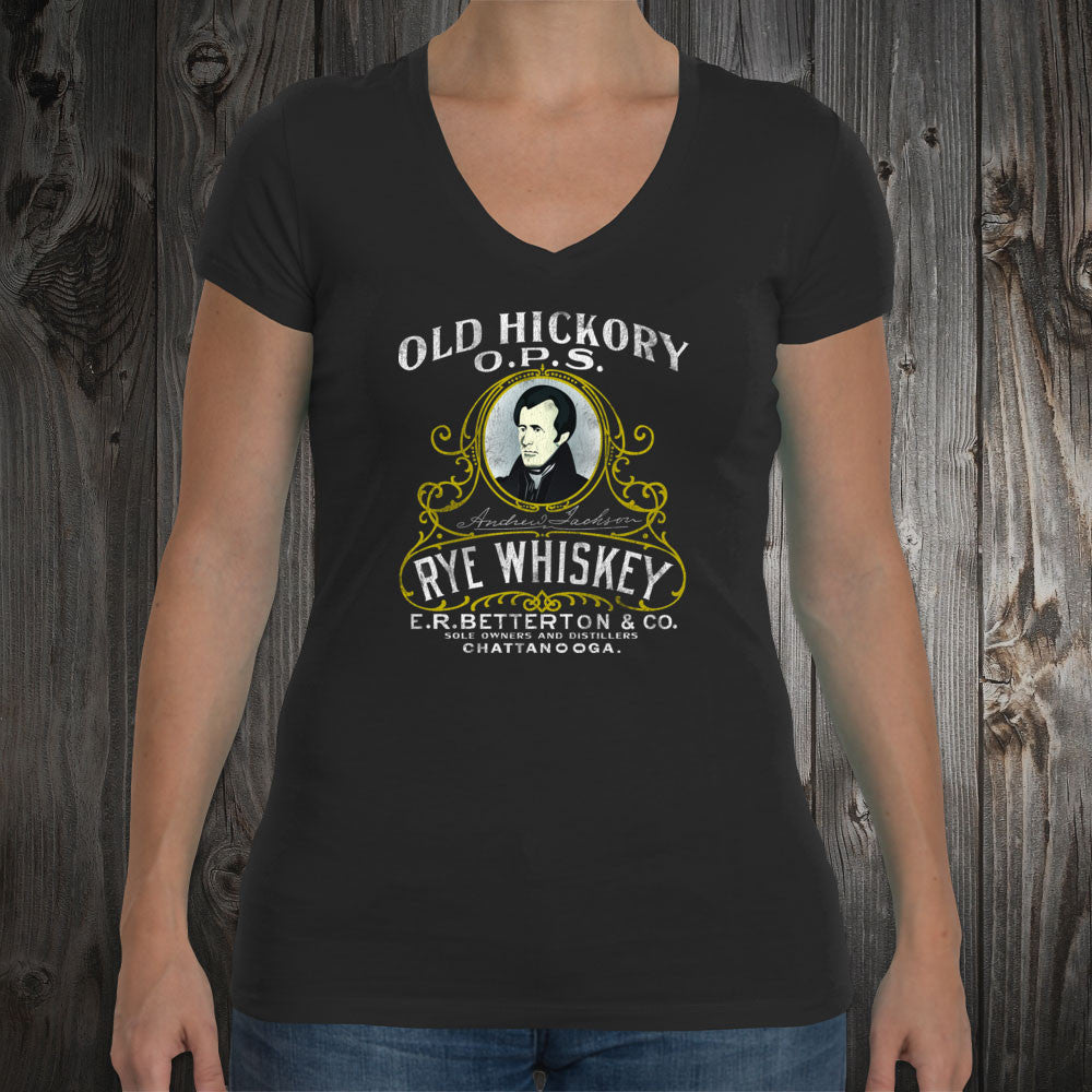 Old Hickory Rye Whiskey Women's V-Neck T-Shirt