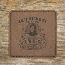 Old Hickory Rye Whiskey Coaster Set
