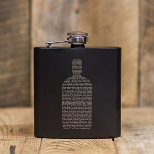 Whiskey Speech Black Flask
