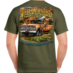 Rebel Hunters Truck and Gator T-Shirt