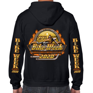 2020 Bike Week Daytona Beach Beach Official Logo Zip-Up Hoodie