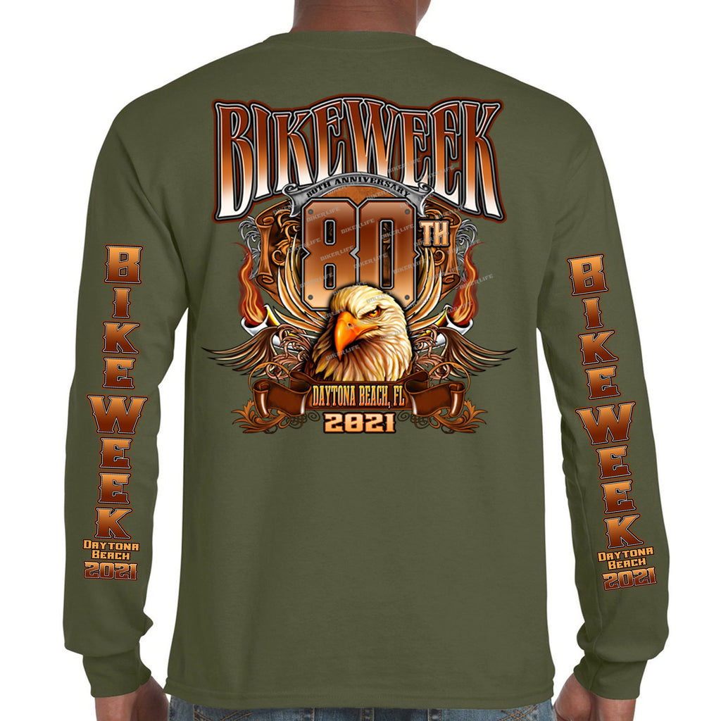 2021 Bike Week Daytona Beach Big Banner Eagle Long Sleeve