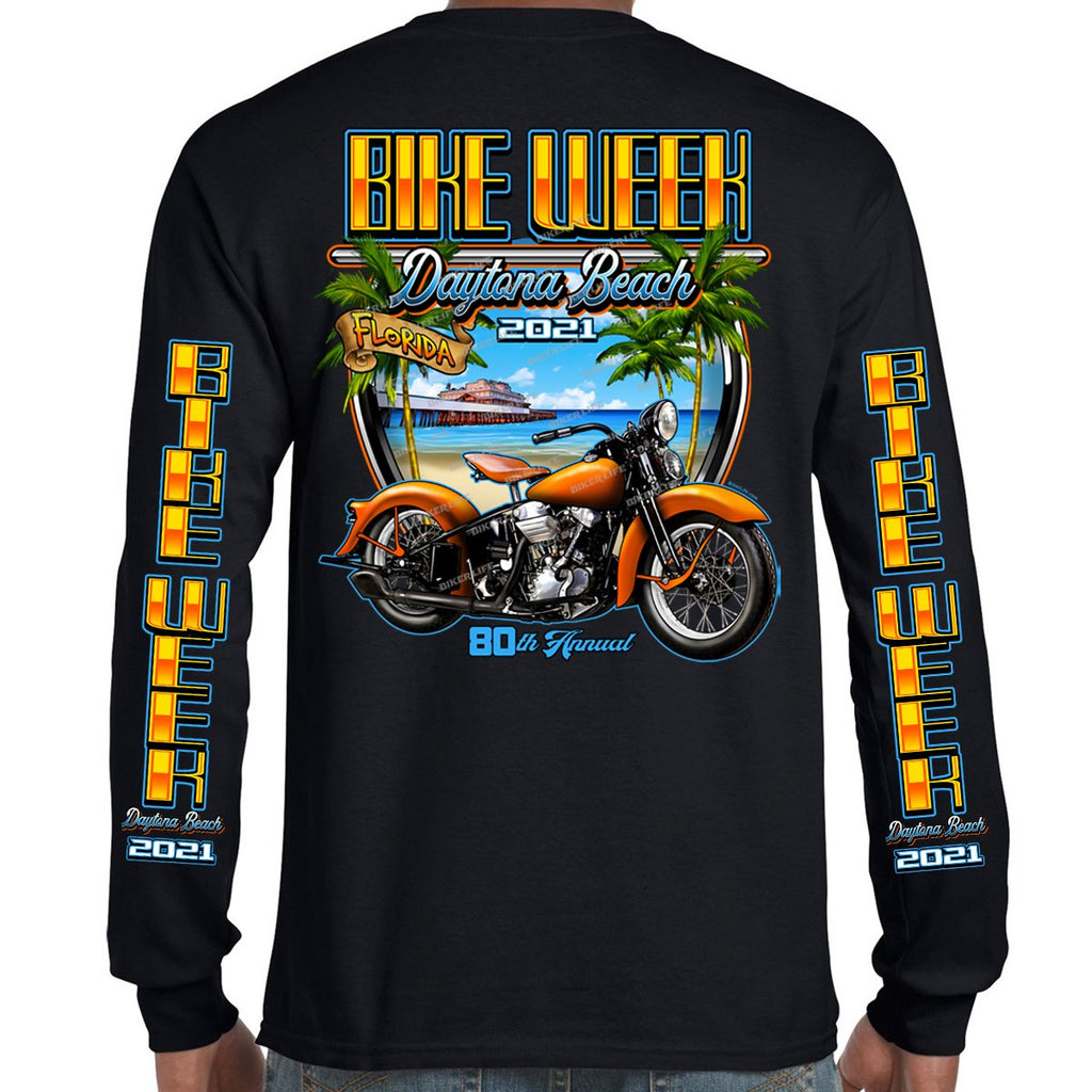 2021 Bike Week Daytona Beach Beach Shield Long Sleeve