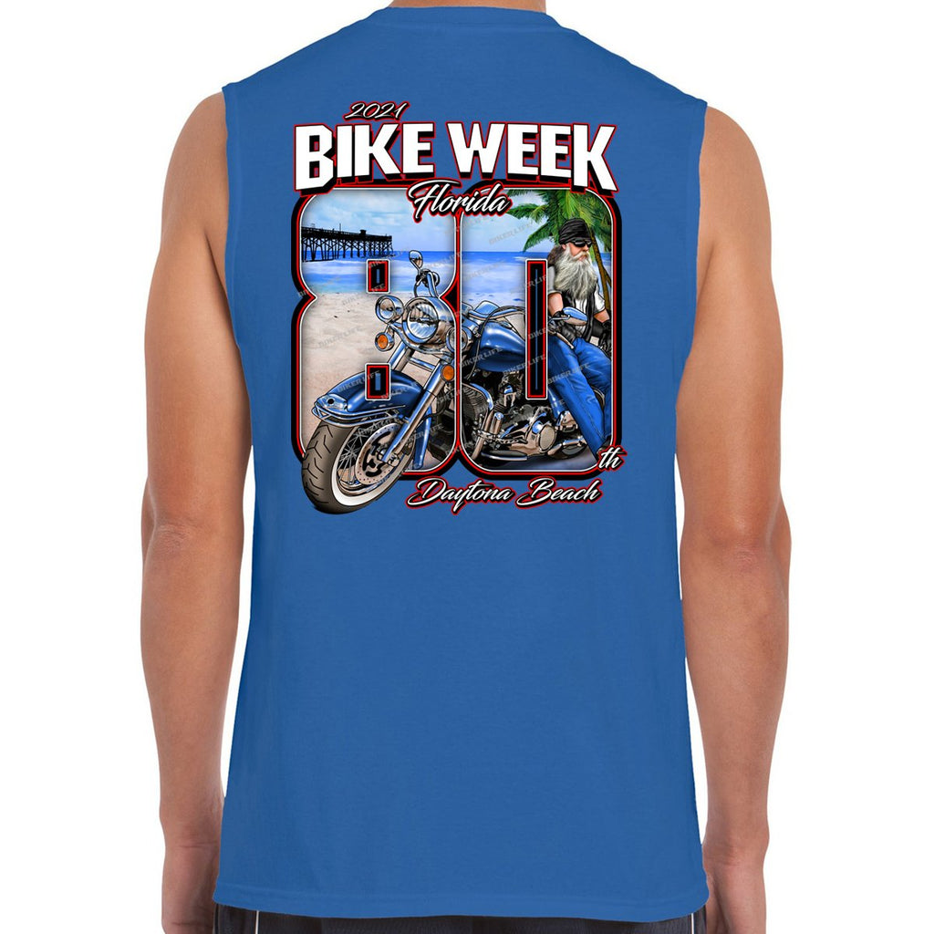 2021 Bike Week Daytona Beach 80th Anniversary Muscle Shirt