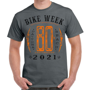 2021 Bike Week Daytona Beach Big 80 Bolt T-Shirt