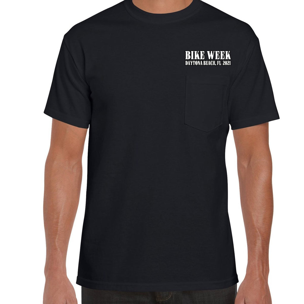 2021 Bike Week Daytona Beach Official Logo Pocket T-Shirt