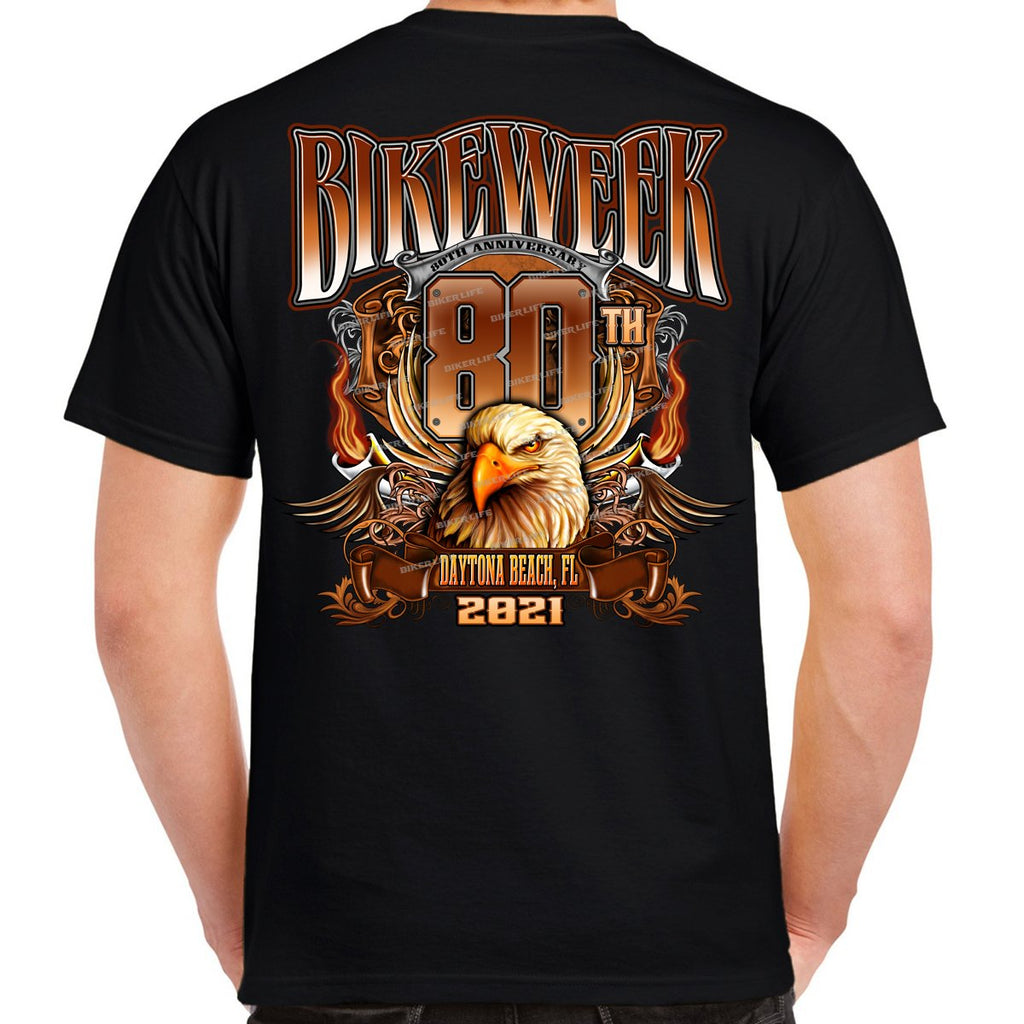 2021 Bike Week Daytona Beach Big Banner Eagle T-Shirt
