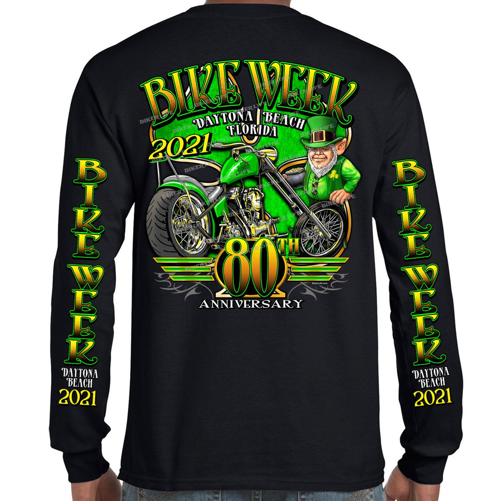 2021 Bike Week Daytona Beach Lucky Clover Long Sleeve