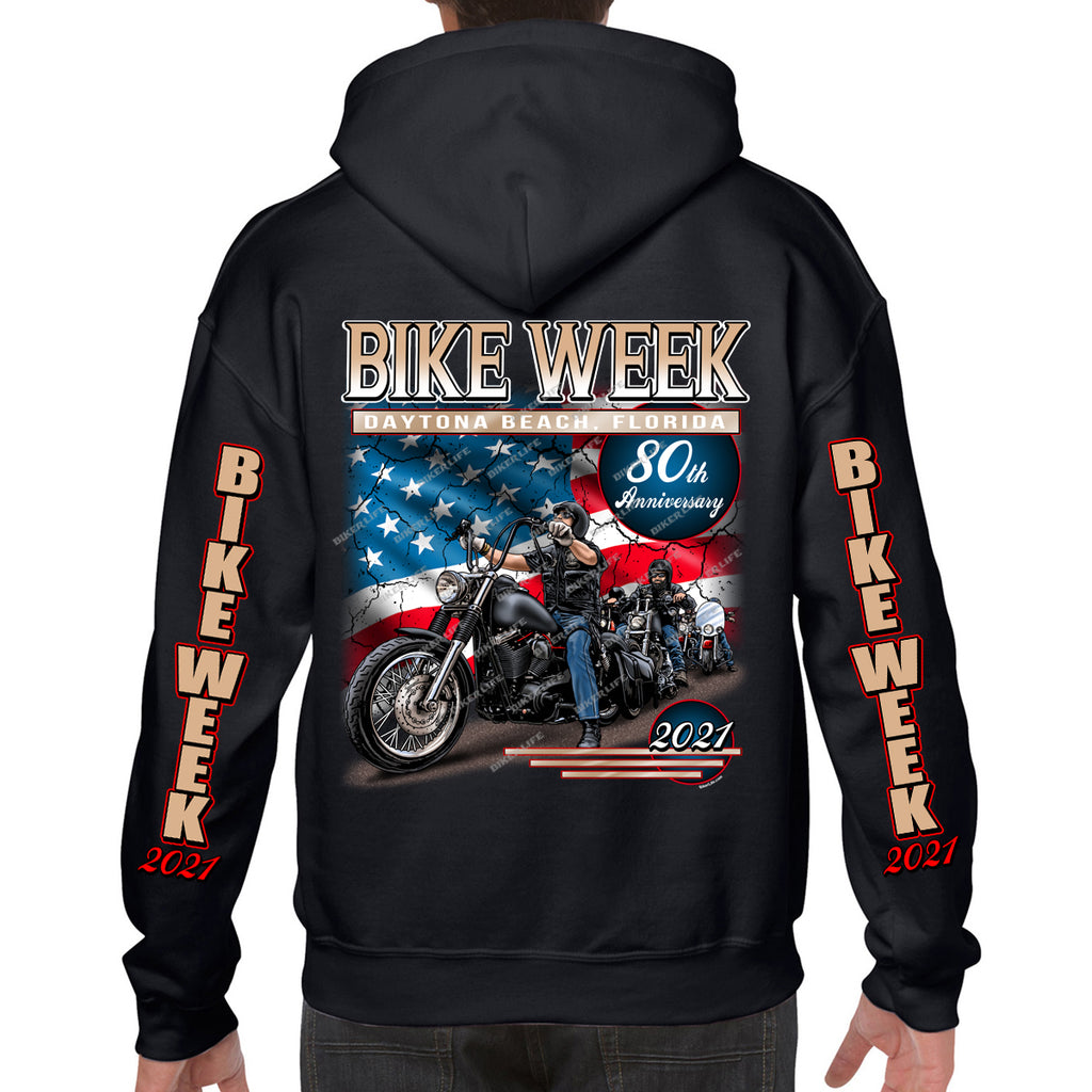 2021 Bike Week Daytona Beach American Bikers Pullover Hoodie