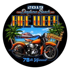 2019 Bike Week Daytona Beach Beach Shield Sticker/Decal