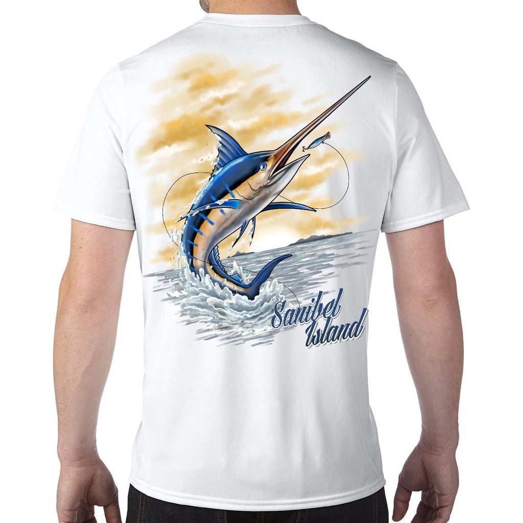 Sanibel Island, FL Marlin Performance Tech T-Shirt