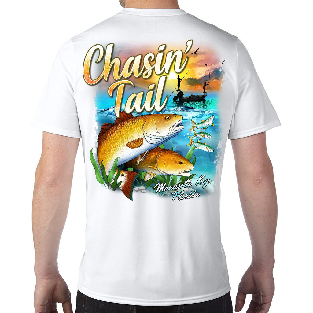 Manasota Key, FL Chasin' Tail Performance Tech T-Shirt