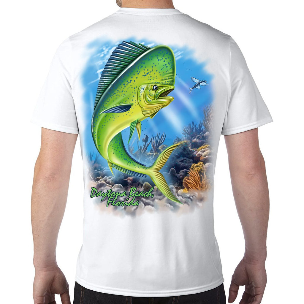 Daytona Beach, FL Mahi Performance Tech T-Shirt