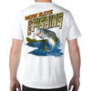Amelia Island, FL Work Sucks, Let's Go Fishing Performance Tech T-Shirt