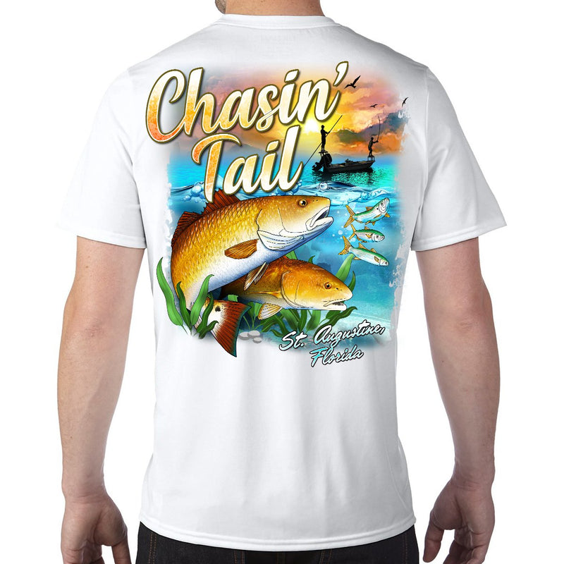 St. Augustine, FL Chasin' Tail Performance Tech T-Shirt