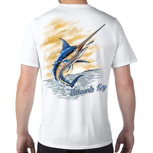 Manasota Key, FL Marlin Performance Tech T-Shirt