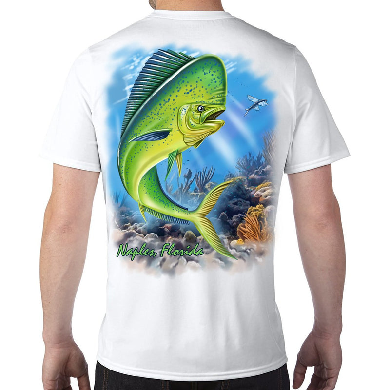 Naples, FL Mahi Performance Tech T-Shirt