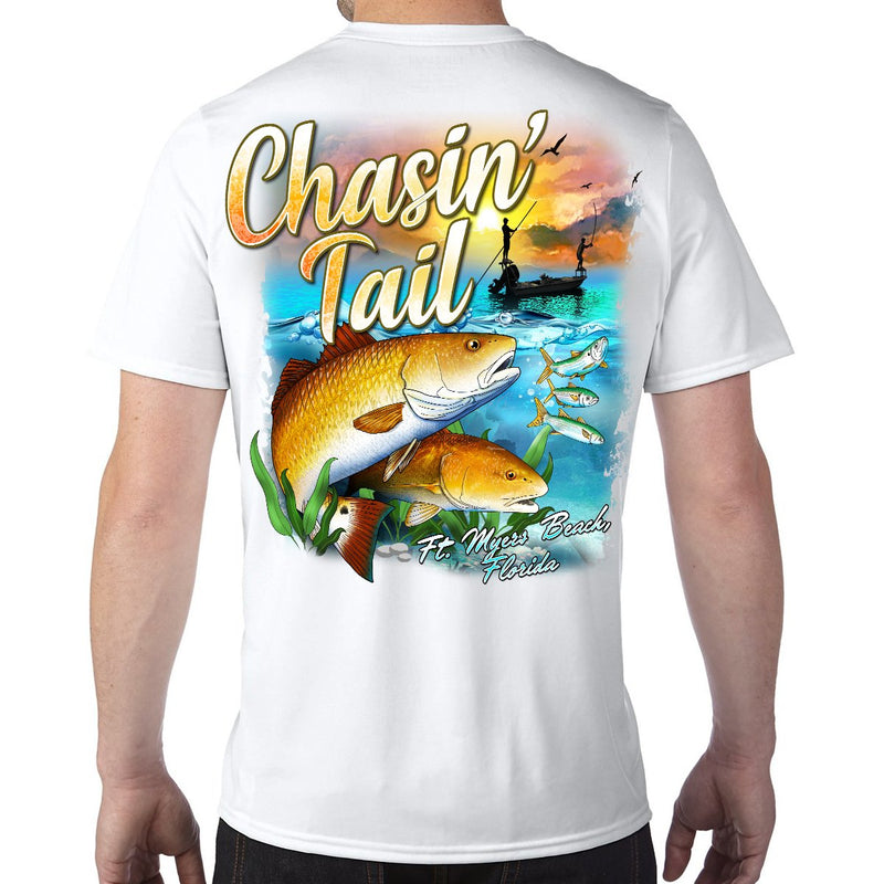 Ft. Myers Beach, FL Chasin' Tail Performance Tech T-Shirt