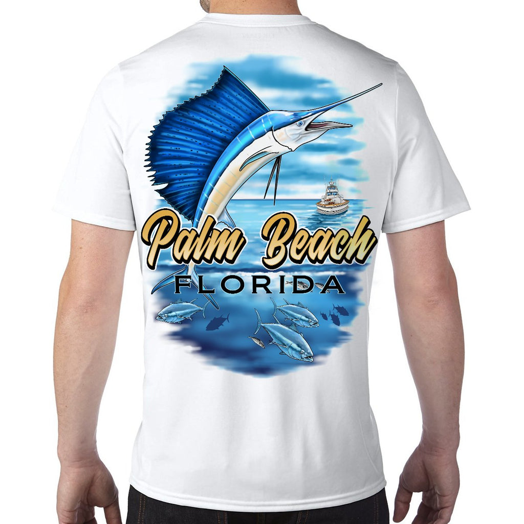 Palm Beach, FL Sailfish Performance Tech T-Shirt