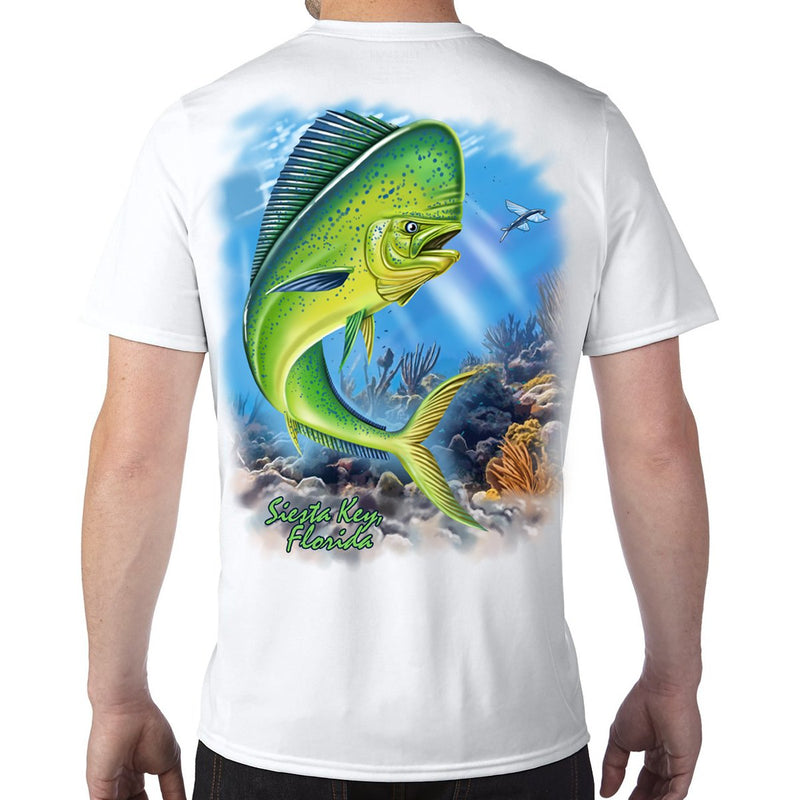 Siesta Key, FL Mahi Performance Tech T-Shirt