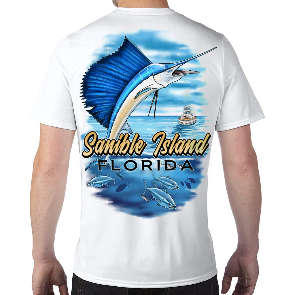 Sanibel Island, FL Sailfish Performance Tech T-Shirt