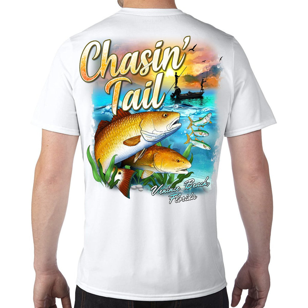 Venice Beach, FL Chasin' Tail Performance Tech T-Shirt