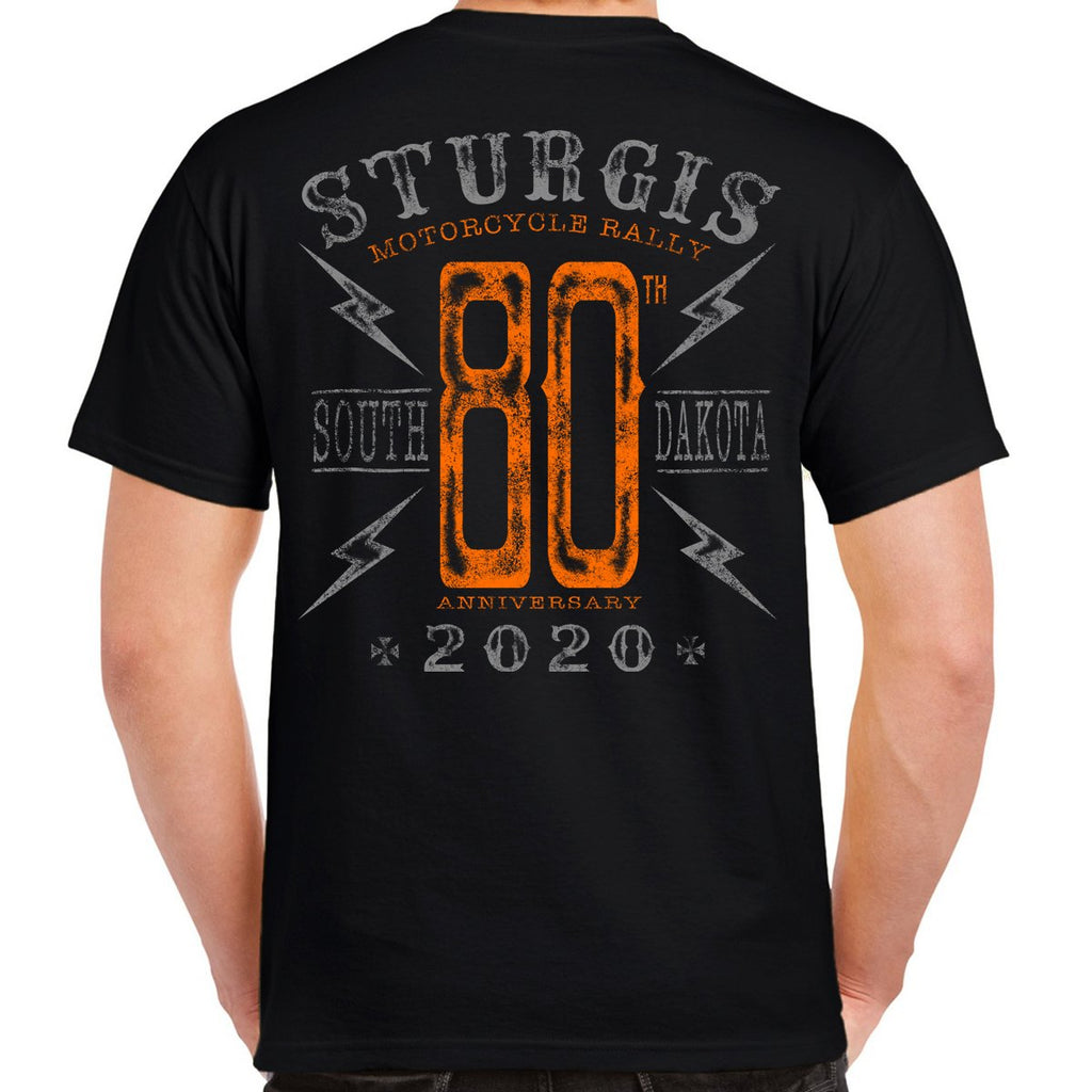 2020 Sturgis Motorcycle Rally Big 80 T-Shirt